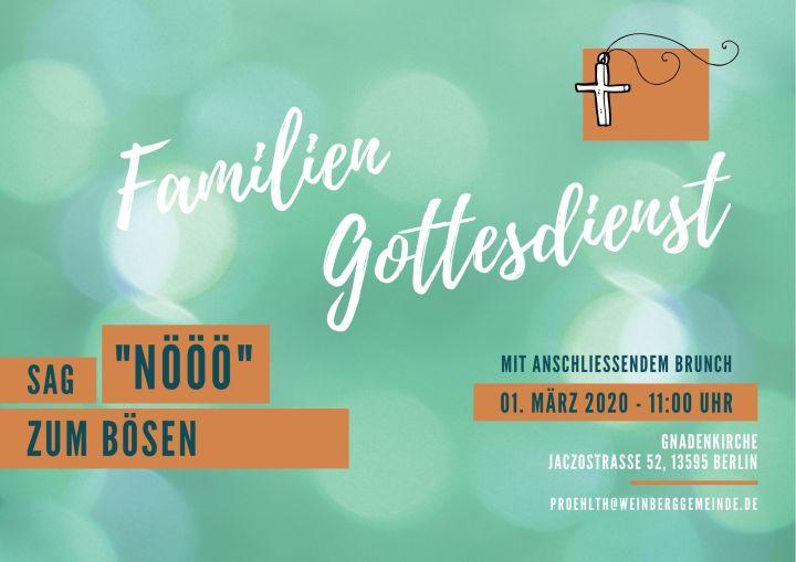 Familiengottesdienst am 01.03.2020